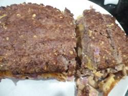 Cheese and Mushroom Stuffed Meatloaf