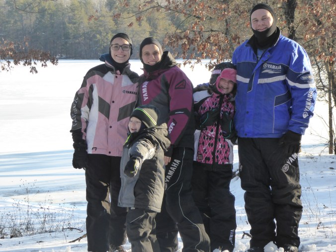 Family Snowmobile Picture