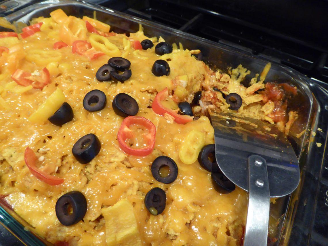 Cheesy crunchy mexican casserole