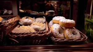 pastries in baskets
