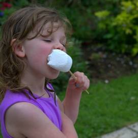 Every girl needs a marshmallow bigger than her mouth!