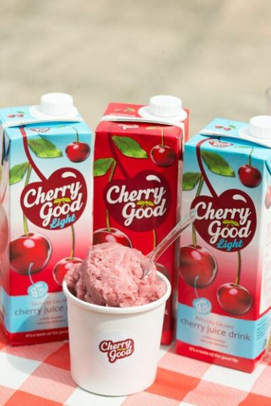 Cherry Good juice & the cherry sorbet made from the juice