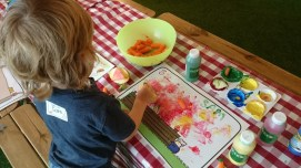 Why I never thought of using fruit and veg to paint with, I don't know?!