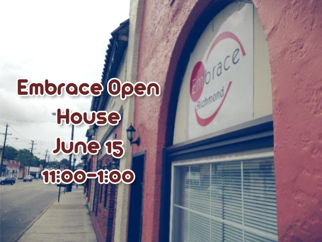 Embrace Open House June 15 11:00-1:00