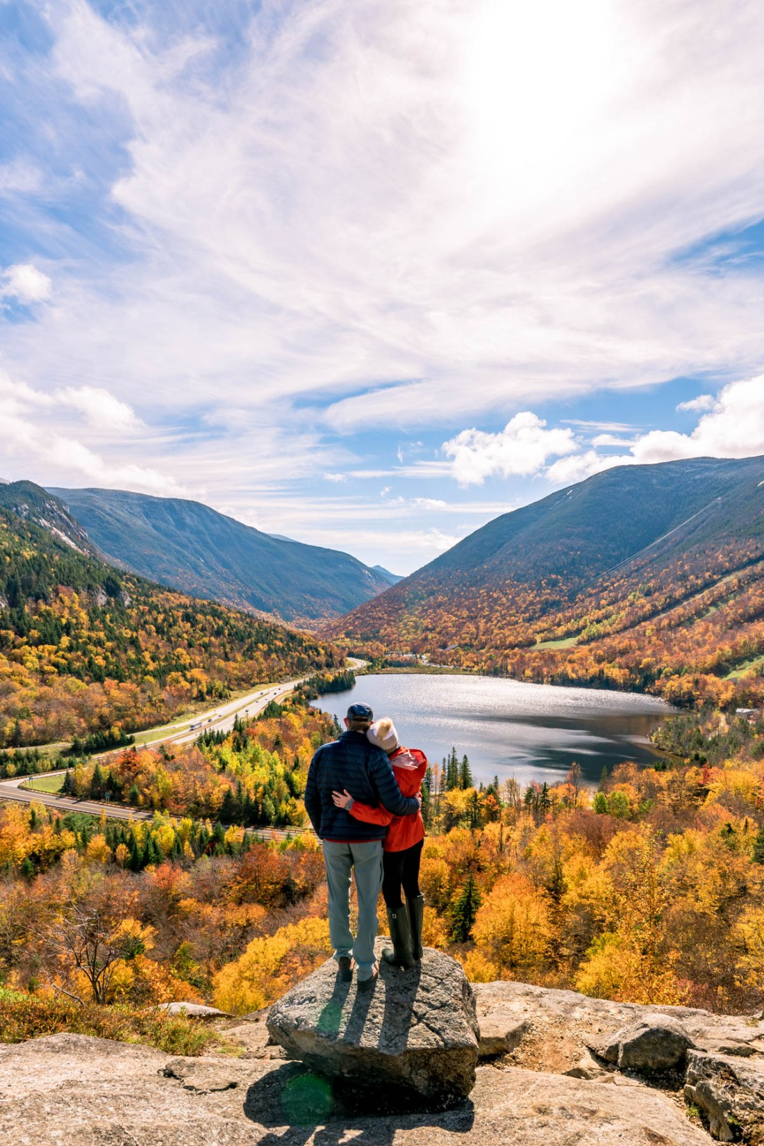 fall foliage in Artist's bluff, New Hampshire
