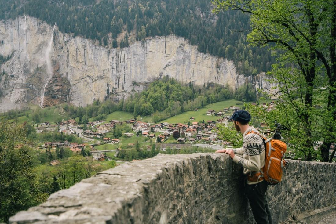 Trail to Lauterbrunnen from Wengen Switzerland
