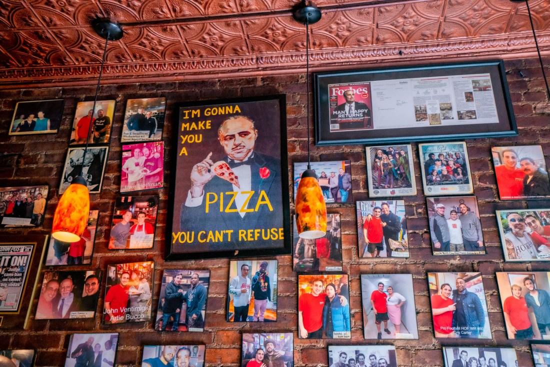 Inside Prince St. Pizza