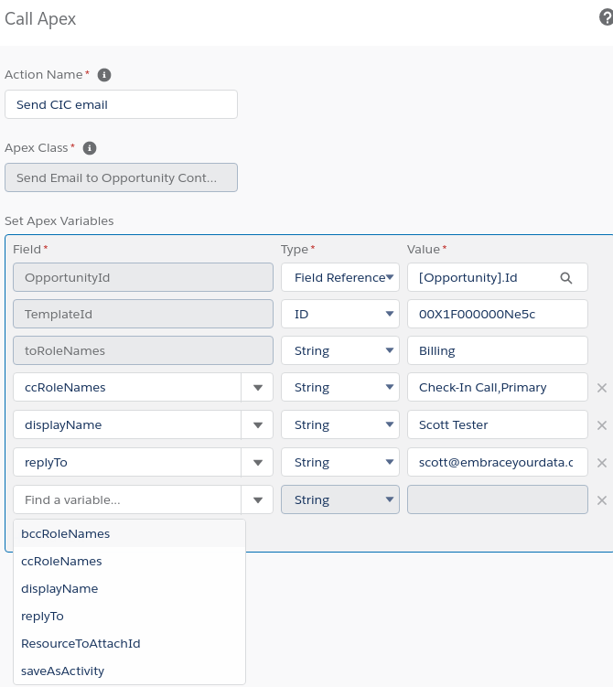 Process Builder screenshot to show configuration
