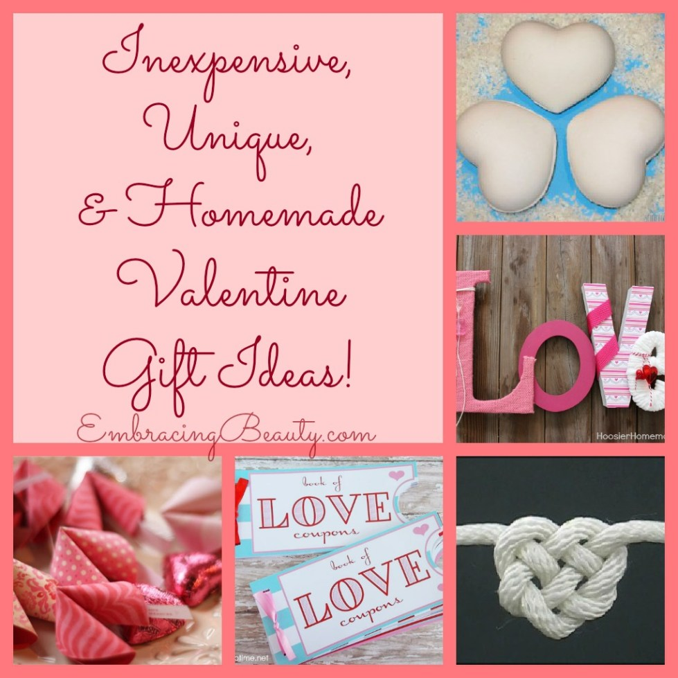 Inexpensive, Unique, & Homemade Valentine Gift Ideas!