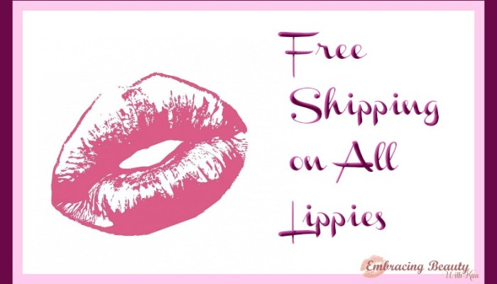Free Shipping on Younique Lippies