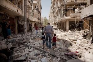 SIRIA_-_LIBANO_-_aleppo_devastata