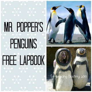 Mr. Popper's Penguins free lapbook