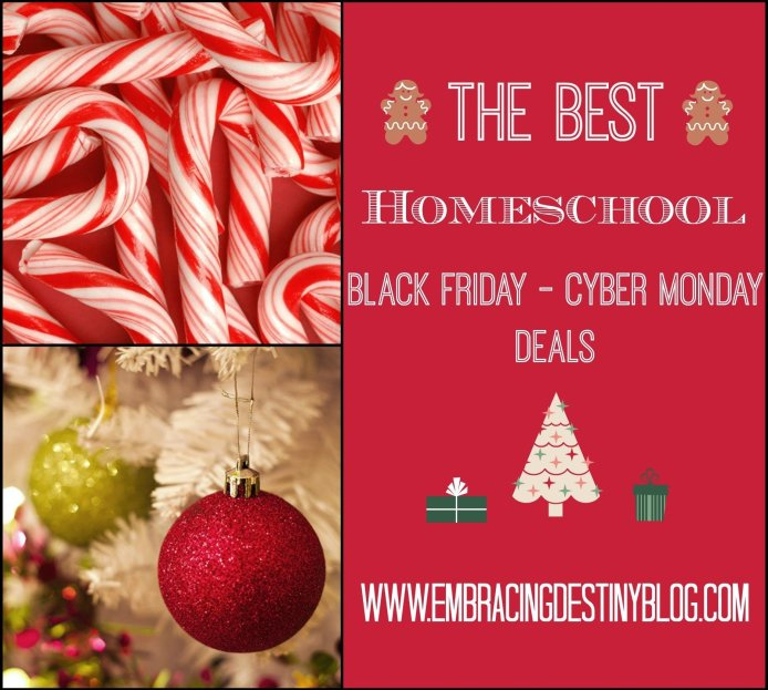 #Homeschool Black Friday to Cyber Monday deals