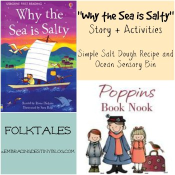 Why the Sea is Salty: Salt Dough and Sensory Bins {Poppins Book Nook}