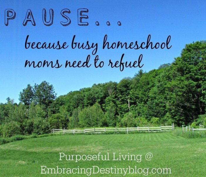 #Homeschool Moms Need to PAUSE to Refuel
