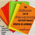 Ultimate List of FREE lapbooks for homeschooling. 65 and growing! Recently updated with new lapbooks.