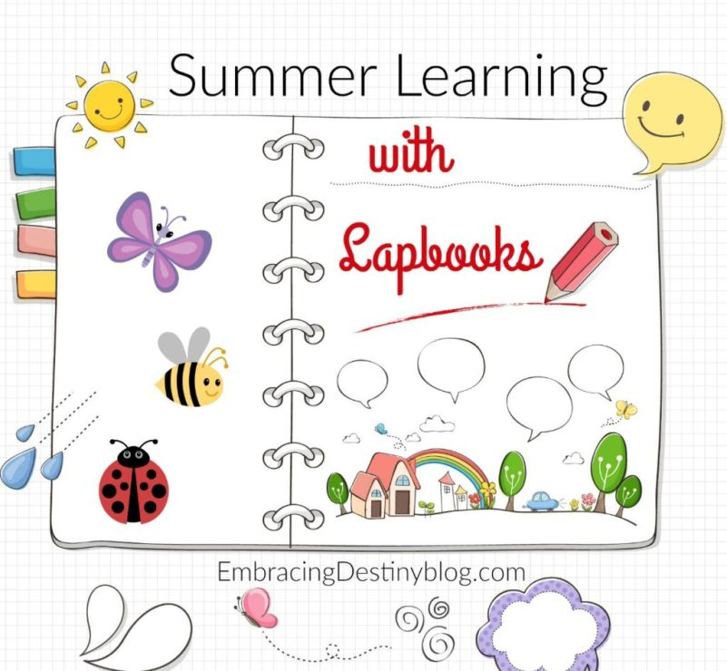 Need some creative summer homeschooling projects? Try lapbooking! embracingdestinyblog.com