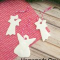DIY Homemade Clay Christmas Ornaments ~ step by step with photos showing how to make these Christmas ornaments from homemade clay. Great family tradition! The kids love it!