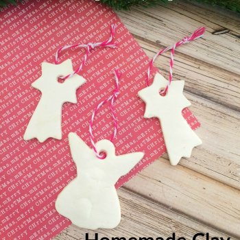 Homemade Clay DIY Christmas Ornaments