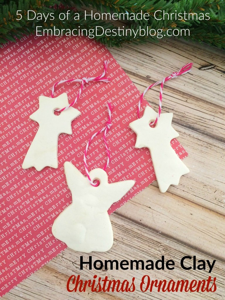 Homemade Clay DIY Christmas Ornaments ~ step by step with photos showing how to make these Christmas ornaments from homemade clay. Great family tradition! The kids love it!