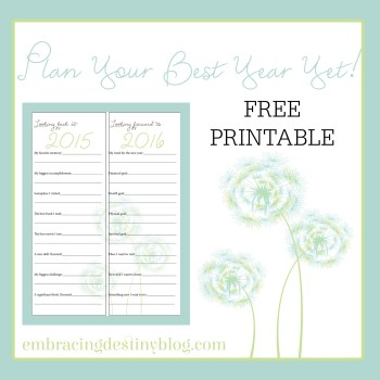 Looking Back, Looking Forward {Free Printable}
