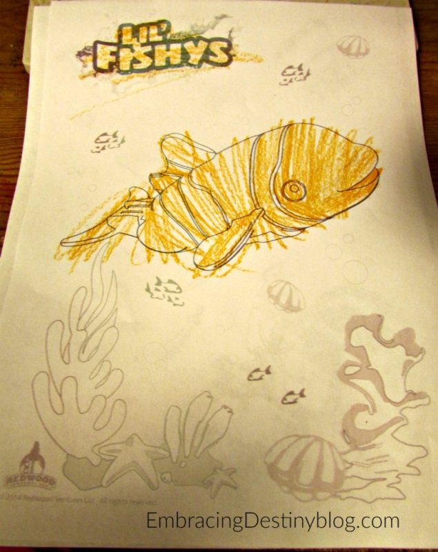 lil fishys coloring page