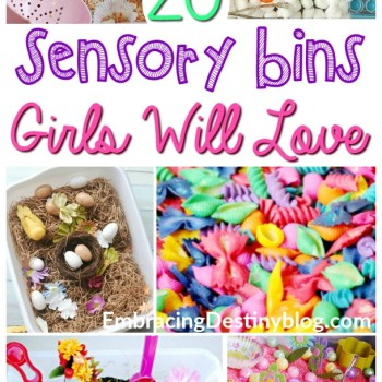 20 Sensory Bins for Girls