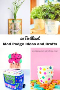 Fun & frugal Mod Podge crafts and ideas for the home. Something for everyone! DIY craft projects. embracingdestinyblog.com