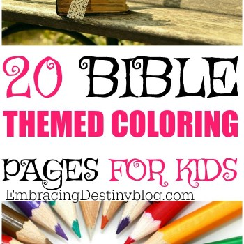20 Bible Themed Coloring Pages For Kids