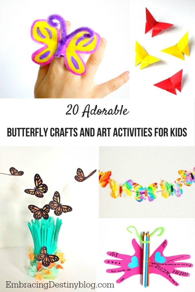 Butterfly crafts for kids | arts and crafts | fun frugal crafts for kids