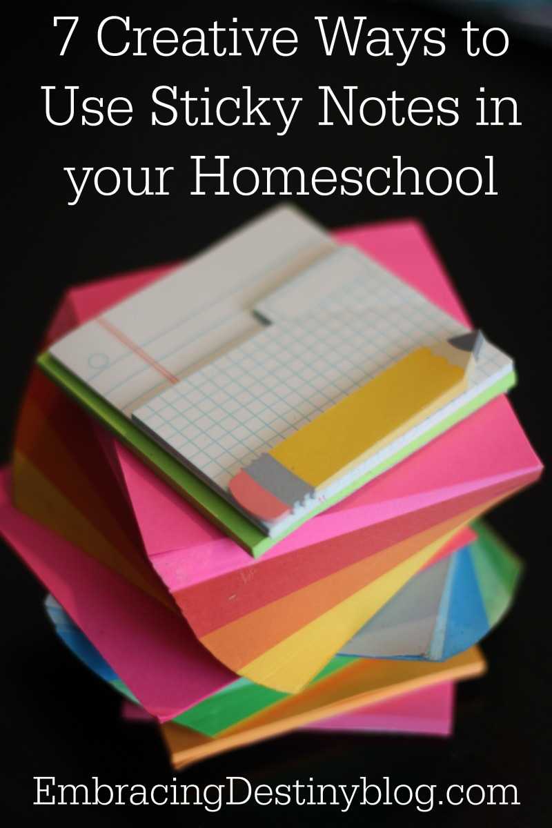 7 Creative Ways to Use Sticky Notes in Your Homeschool