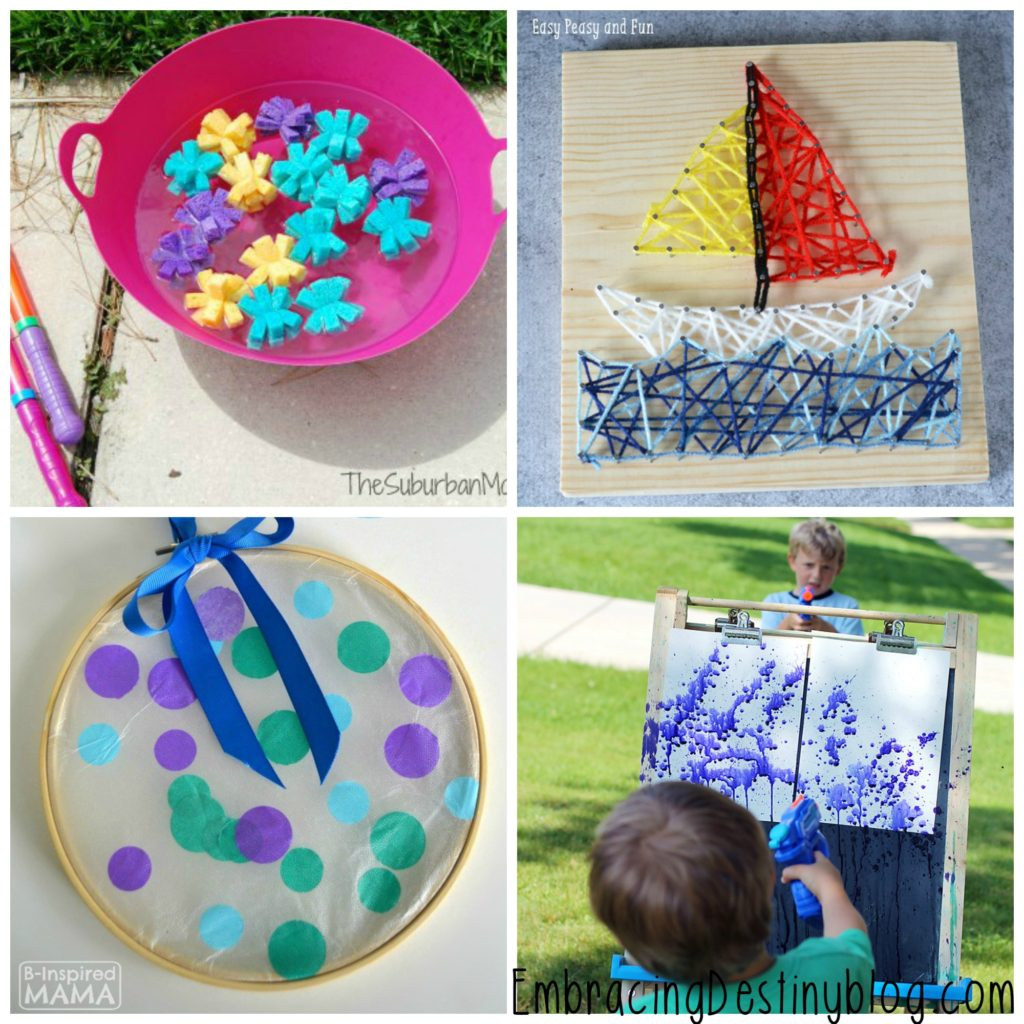 Get inspired by these 20 super simple fun summer arts and crafts for kids!