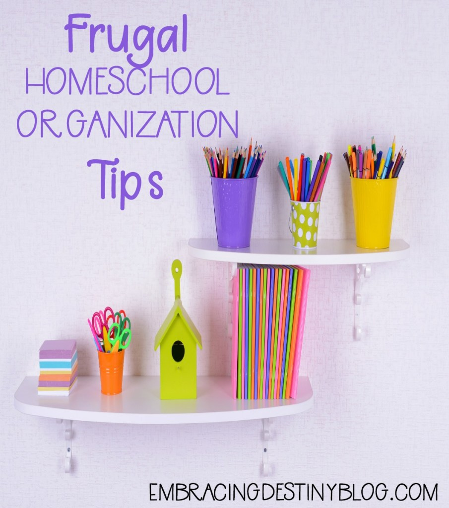 Frugal homeschool organization tips using Dollar Tree supplies | homeschooling on a budget
