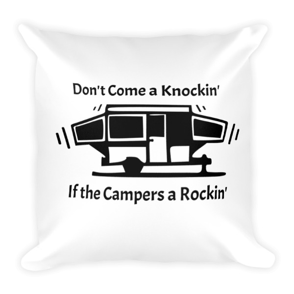 Two Sided Pop Up Camper Funny Square Pillow