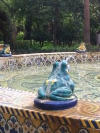 The Frog Fountain in Parque de María Luisa