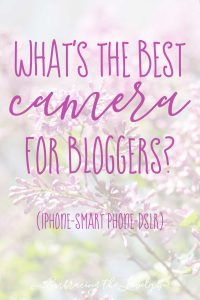 What's the Best Camera for Bloggers? Embracing the Lovely shares some examples of images from a DSLR and smart phone and why you should buy a DSLR to improve your blog photography