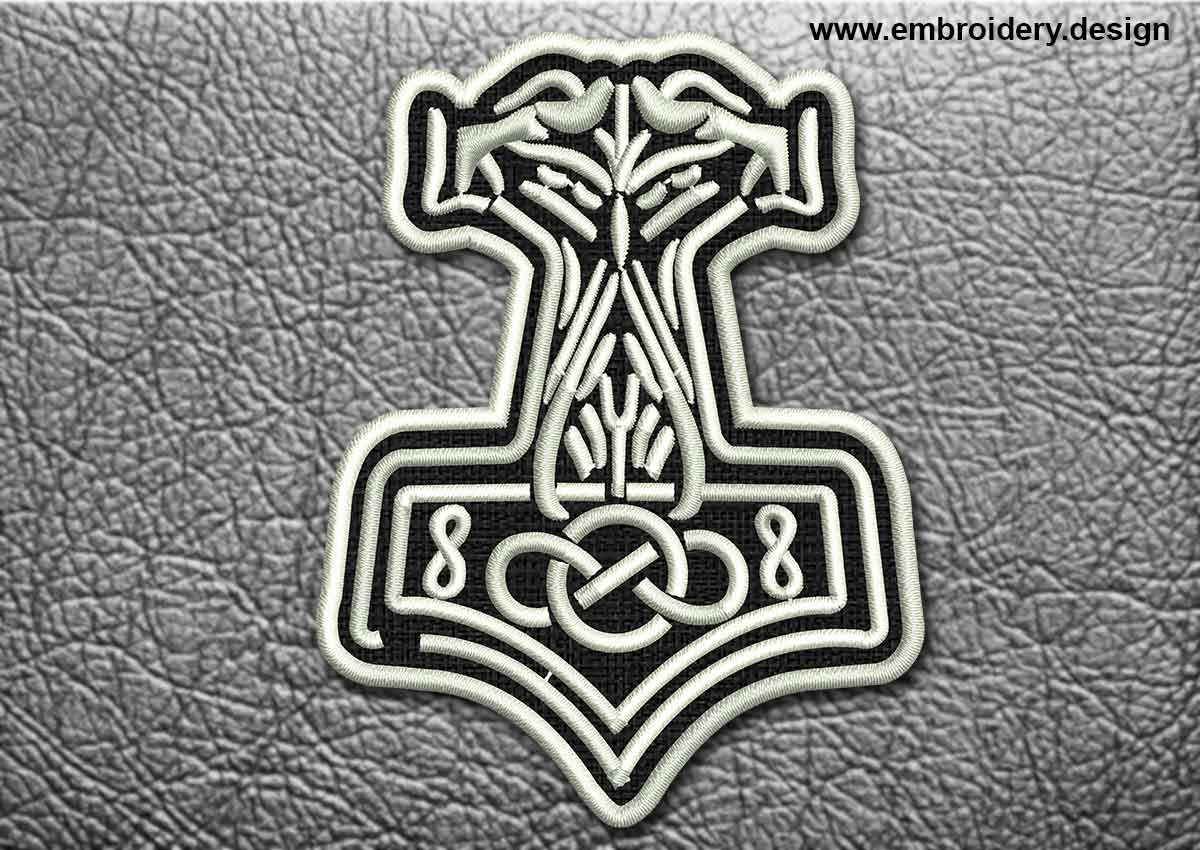Celtic Patch Ornament With Celtic Knot