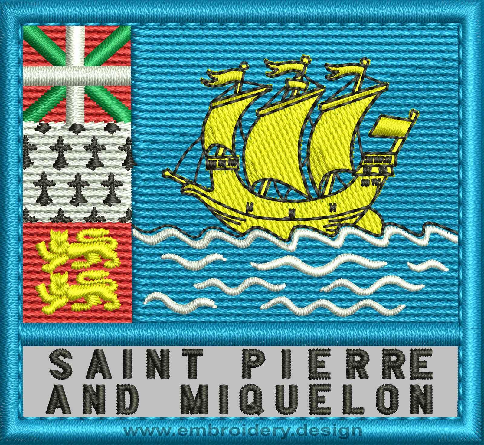 Saint Pierre And Miquelon Flag Coloring Pages