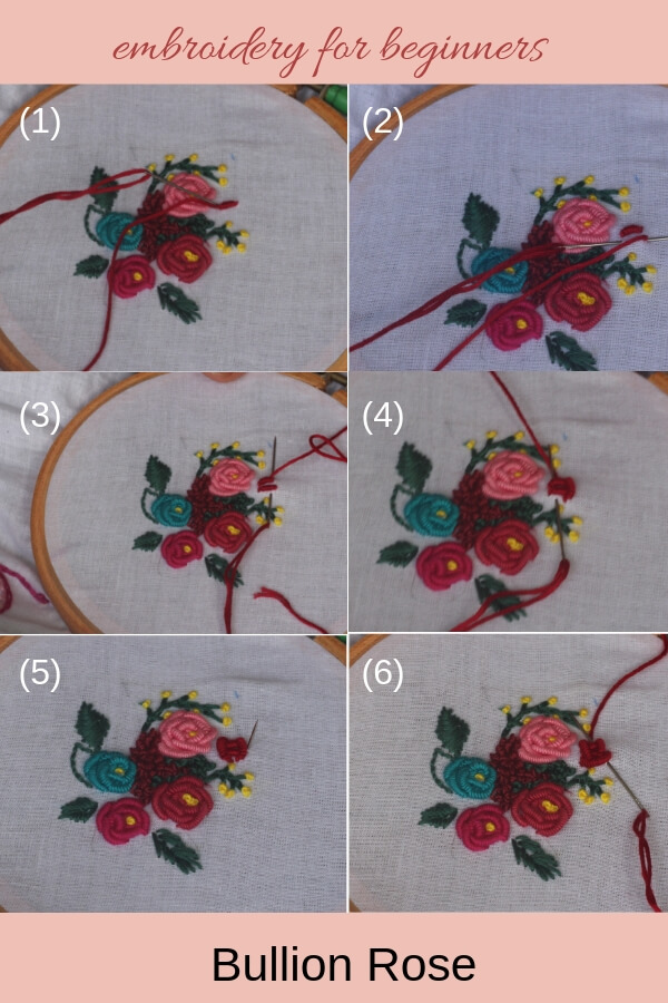 bullion rose collage