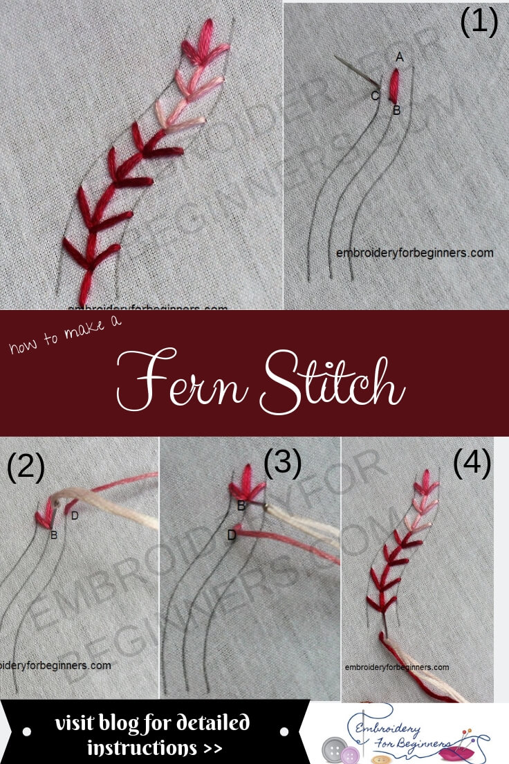 fern stitch with step by step pictures