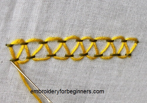 finishing stepped running stitch