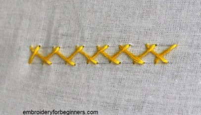 Parallel Running Stitch, Laced Running Stitch Step By Step