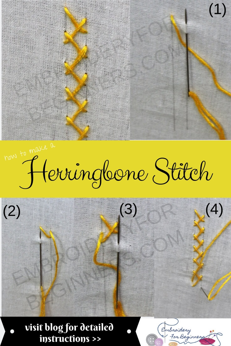 herrringbone stitch with step by step pictures