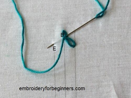 last chain stitch for the russian chain stitch
