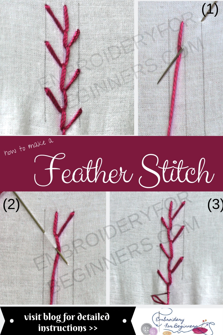 learn how to make feather stitch with step by step photos