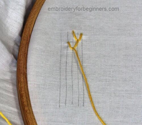 making feather stitch