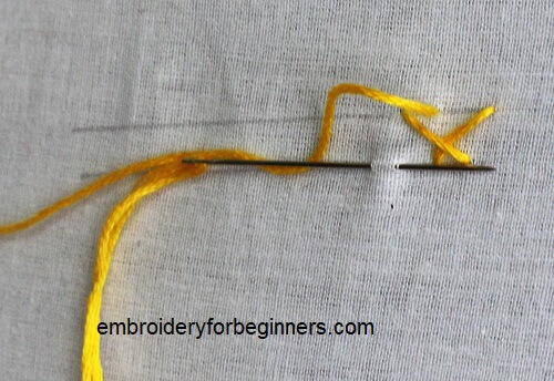 stitching herringbone stitch