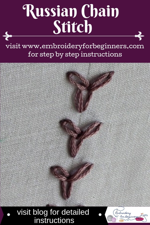 visit blog for detailed instructions on russian chain stitch