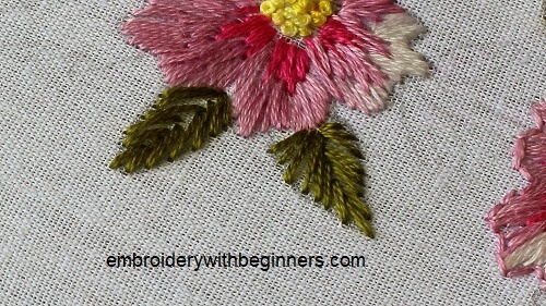 Fishbone Stitch In Hand Embroidery Tutorial Step By Step Video