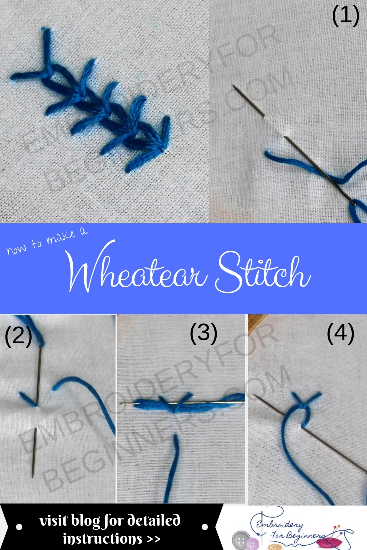 wheatear stitch step by step pictures